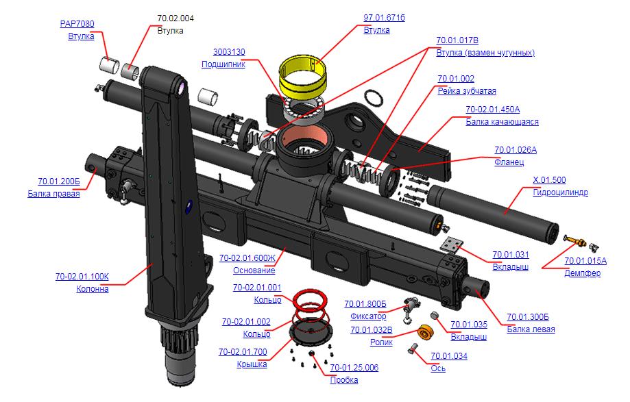 Опорно-поворотное устройство 70-02.01.100Г (ВЕЛМАШ)