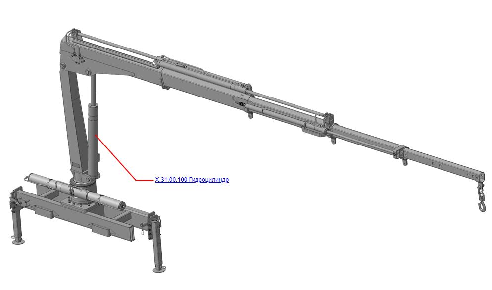 Гидроцилиндры (ВЕЛМАШ) Запчасти на манипулятор КМУ-31 (Велмаш)
