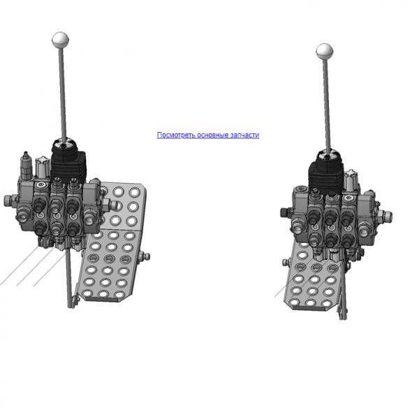 Запчасти, ОМТЛ-120-01.07.000А Механизм управления на манипулятор для леса ОМТ-120-01 (ВЕЛМАШ)