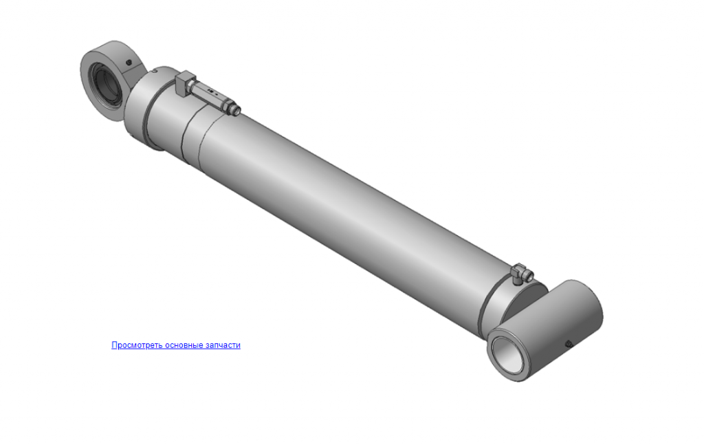 Запчасти гидроцилиндры. Модель Х.97.00.300А Гидроцилиндр для ОМТЛ-97 (ВЕЛМАШ)