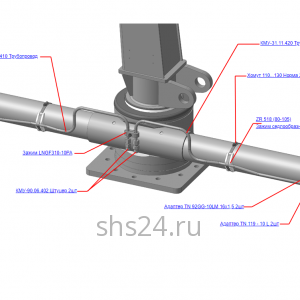 КМУ-31.11.400-01 Гидрооборудование ОПУ для КМУ (ВЕЛМАШ) запчасти на манипулятор для КМУ-31 Велмаш