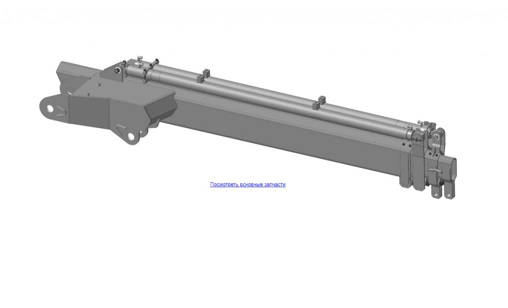 КМУ-55.03.000 Рукоять в сборе для КМУ (ВЕЛМАШ) запчасти на манипулятор для КМУ-55 Велмаш
