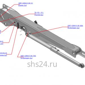 ОМТ-120М-01.08.100А Гидрооборудование стрелы (ВЕЛМАШ) запчасти на манипулятор для лома ОМТ-120М-01 Велмаш 1
