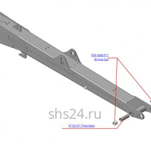 Стрела 97.02.000Б (ВЕЛМАШ) на манипулятор для лома ОМТ-97М