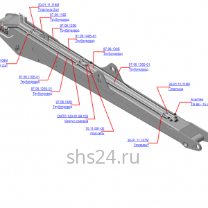 97.06.100Б Гидрооборудование стрелы (ВЕЛМАШ) запчасти на манипулятор для лома ОМТ-97М