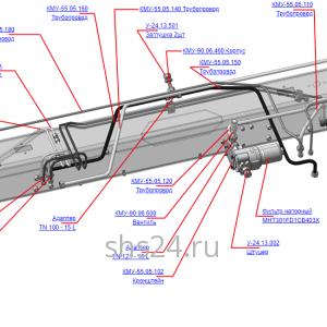 КМУ-55.05.100 Гидрооборудование ОПУ для КМУ (ВЕЛМАШ) запчасти на манипулятор для КМУ-55 Велмаш