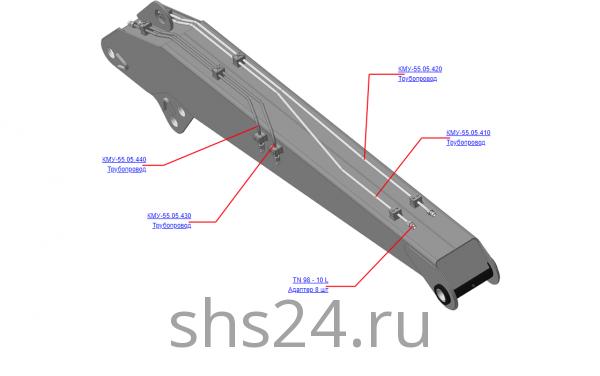 КМУ-55.05.400 Гидрооборудование стрелы для КМУ (ВЕЛМАШ) запчасти на манипулятор для КМУ-55 Велмаш