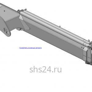 КМУ-90.03.000 Рукоять в сборе для КМУ (ВЕЛМАШ) запчасти на манипулятор для КМУ-90 Велмаш