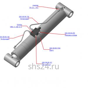 КМУ-90.06.100Б Установка клапана стрелы для КМУ (ВЕЛМАШ) запчасти на манипулятор для КМУ-90 Велмаш