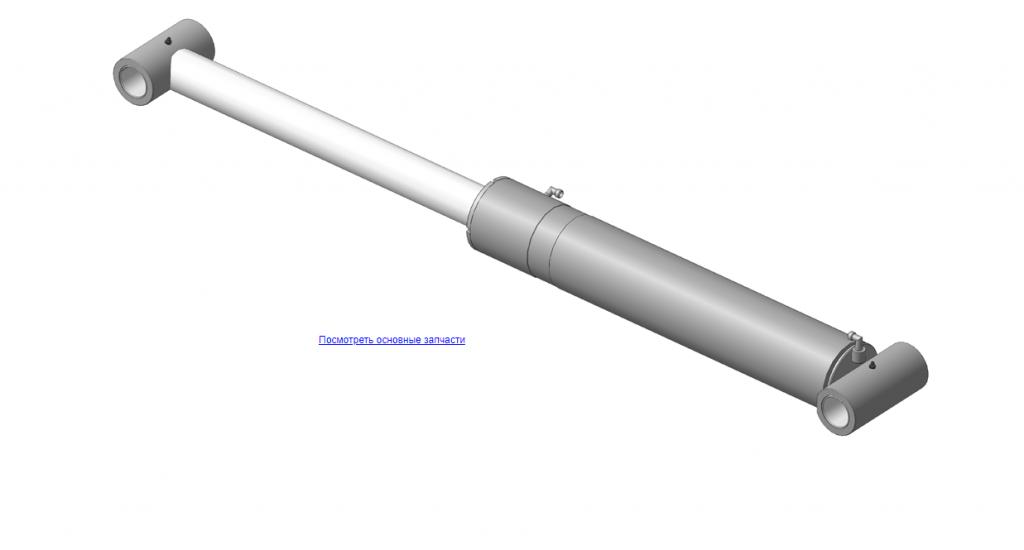Х.90.00.100 Гидроцилиндр для КМУ (ВЕЛМАШ) запчасти на манипулятор для КМУ-90 Велмаш
