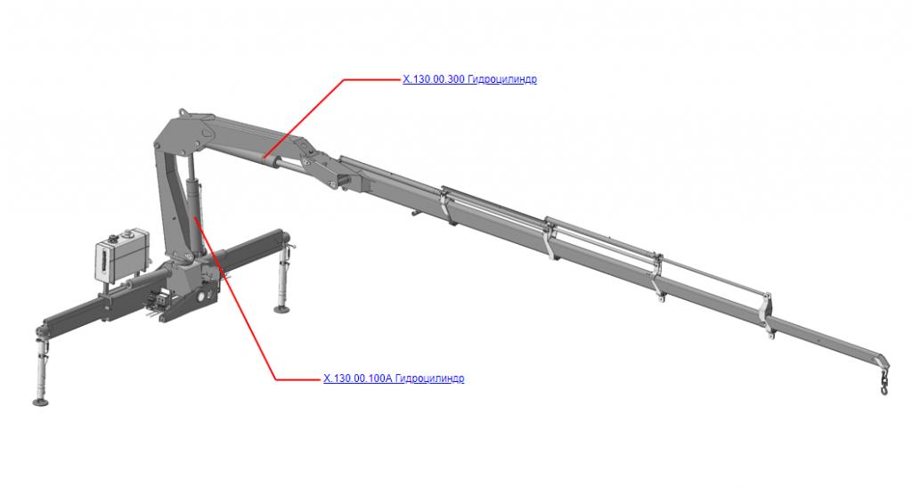 Гидроцилиндры для КМУ (ВЕЛМАШ) Запчасти на манипулятор КМУ-130 (Велмаш)