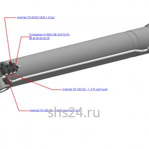Установка гидрозамка на рукоятный гидроцилиндр КМУ-130.06.200-01 для КМУ (ВЕЛМАШ) запчасти на манипулятор для КМУ-130 Велмаш
