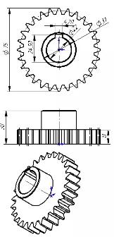Шестерня бронзовая для КМУ SOOSAN  SCS8