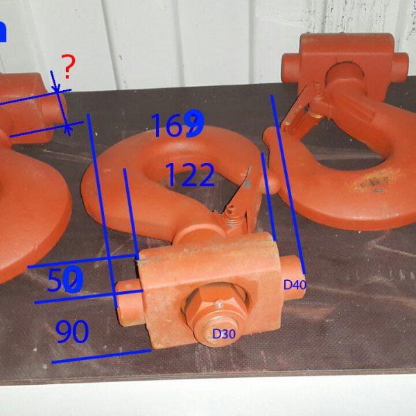 Крюк с траверсой для крано-манипуляторной установки КМУ Soosan SCS 736
