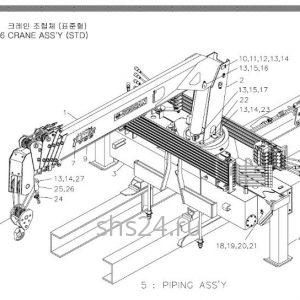Основные части крана Soosan SCS 736 STD