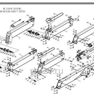 стрелу в сборе для крано-манипуляторной установки Soosan SCS736