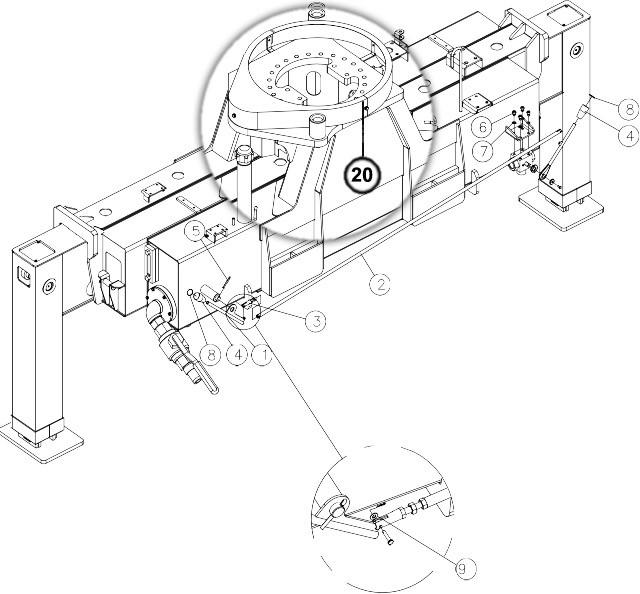 Опорно-поворотный подшипник (ОПУ)для крано-манипуляторной установки Dong Yang SS2036