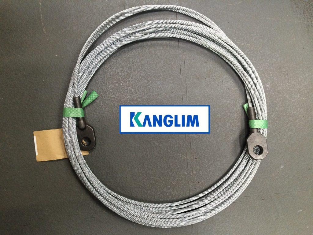 Трос крановой установки внутренний выдвижения для крана-манипулятора KANGLIM (Канглим) KS1256 (D11,2 мм.)