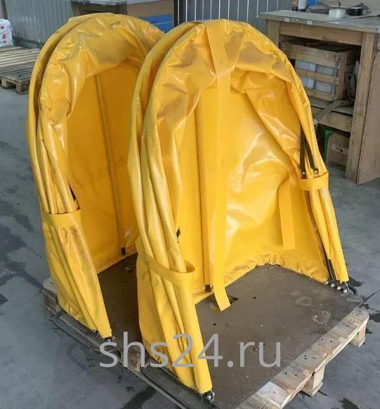 Капюшон (Тент защитный поста управления) для КМУ Палфингер (Palfinger) желтый