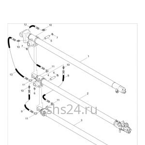 Гидроцилиндры телескопирования стрелы Kanglim KS 1256 GII