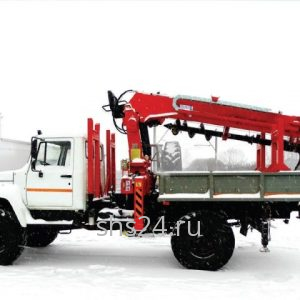 Бурильно-крановая машина на базе ГАЗ 33088(33081) Садко с БКУ Hangil HGC 375