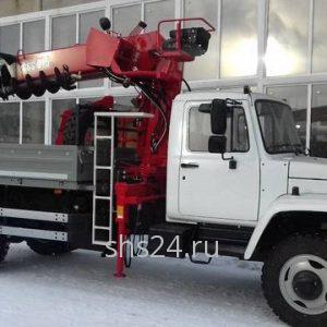 Бурильно-крановая машина на базе ГАЗ 33086 Земляк с БКУ CS Machinery CSS 075M