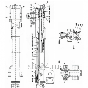 2-й Гидроцилиндр выдвижения стрелы Kanglim KS 1056