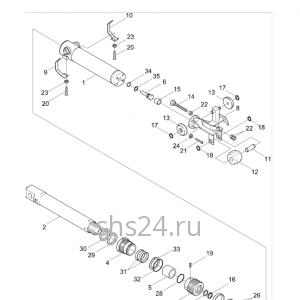 3-ий гидроцилиндр выдвижения стрелы Kanglim KS 1256 GII
