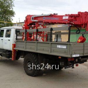 Бурильно-крановая машина на базе ГАЗ 33088 со сдвоенной кабиной(дубль) с БКУ Hangil HGC 375