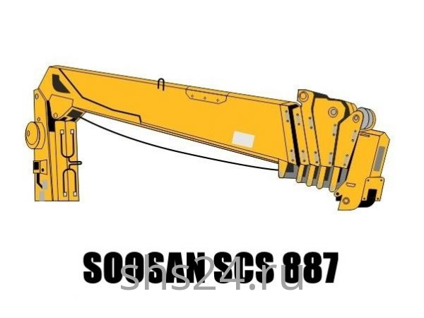 Кран манипулятор (КМУ) Soosan SCS 887