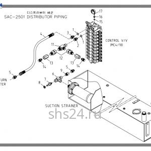 Cхема подключения гидробака Soosan SAC25-01