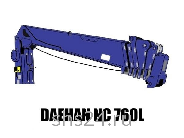 Кран манипулятор (КМУ) Daehan NC 760L