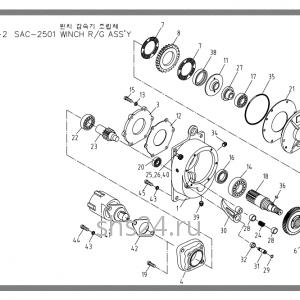 Редуктор лебедки Soosan SAC 2501