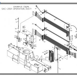Рычаги управления краном Soosan SAC 2501