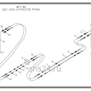 Схема подключения цилиндра выдвижения лап Soosan SAC 2501
