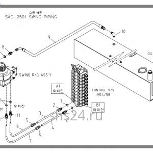 Схема подключения редуктора поворота Soosan SAC 2501