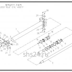 Гидроцилиндр телескопирования Soosan SCS 333,334