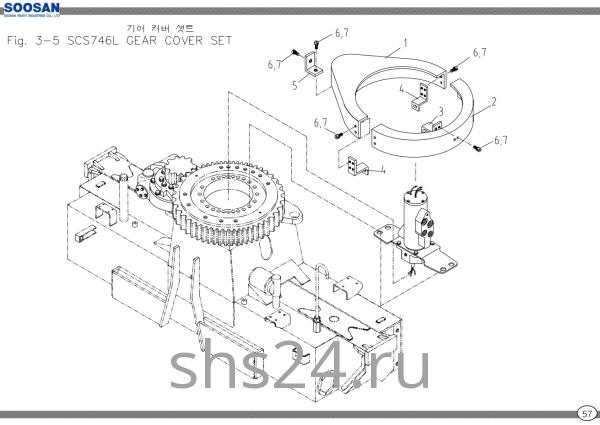 Корпус опорного подшипника Soosan SCS 746L