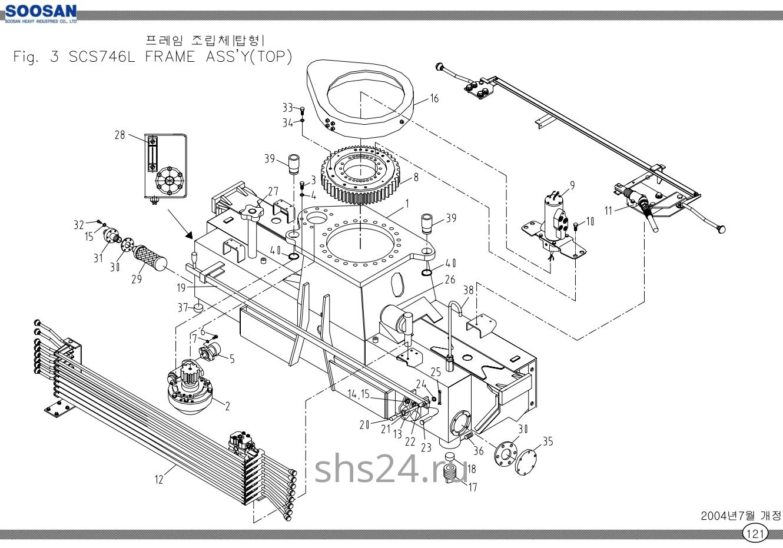 Опорно-поворотный подшипник (ОПУ) Soosan SCS 746L