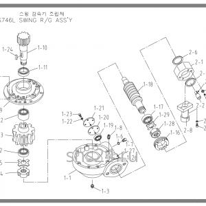 Редуктор поворота колонны(башни) Soosan SCS 746L