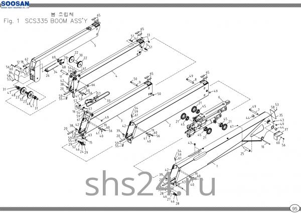 Стрела 5 секций Soosan SCS 335