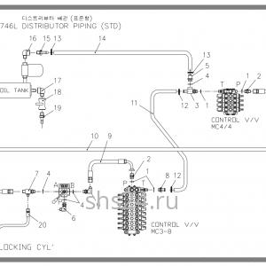 Схема подключения гидравлики Soosan SCS 746L STD