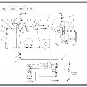 Схема подключения гидроклапанов Soosan SCS 746L