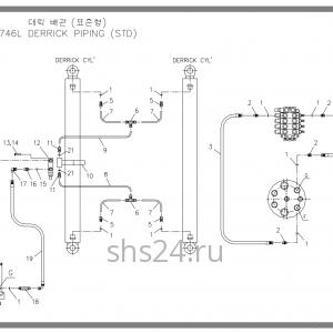 Схема подключения гидроцилиндра подъема Soosan SCS 746L