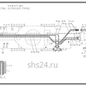 Схема подключения передних аутригеров Soosan SCS 746L