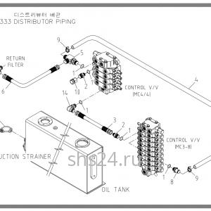 Схема подключения распределителей Soosan scs333,334,335