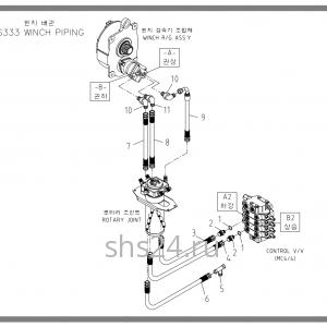 Схема подключения редуктора лебёдки Soosan scs 333,334,335