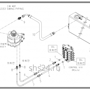 Схема подключения редуктора поворота Soosan scs333,334,335
