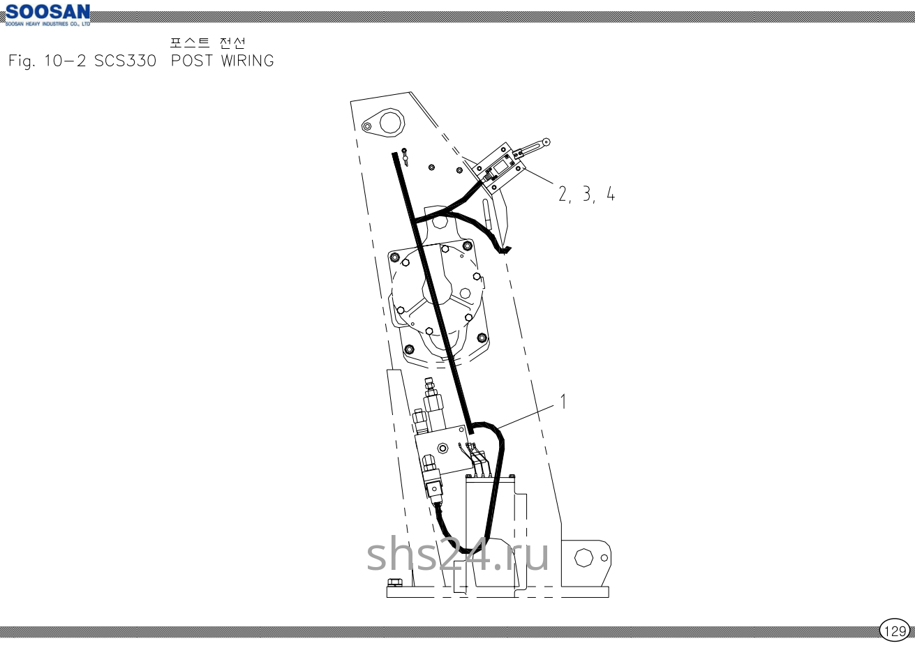 Электропроводка башни Soosan scs 333,334,335