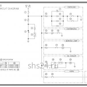 Электропроводка общая схема Soosan scs 333,334,335